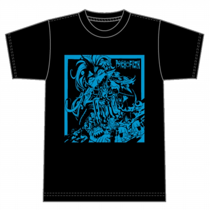 THE BEST OF PSYCHO FILTH Tシャツ (ブルー)